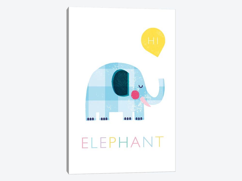 Elephant by PaperPaintPixels 1-piece Canvas Print