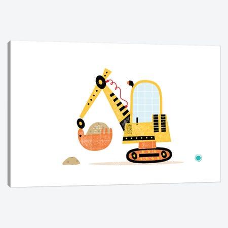 Excavator Canvas Print #PPX33} by PaperPaintPixels Canvas Print