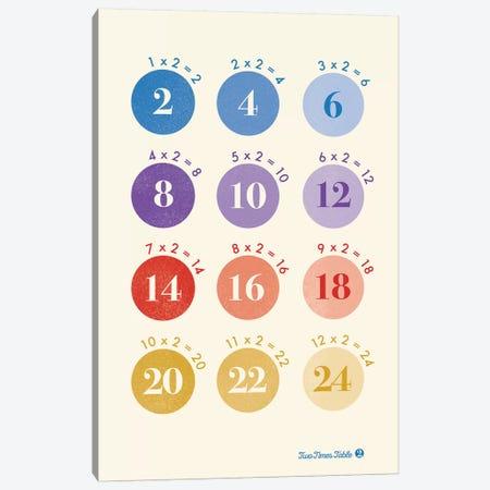 Spot Times Tables - 2 Canvas Print #PPX343} by PaperPaintPixels Art Print