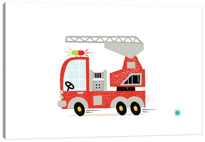 Fire Engine Canvas Art Print