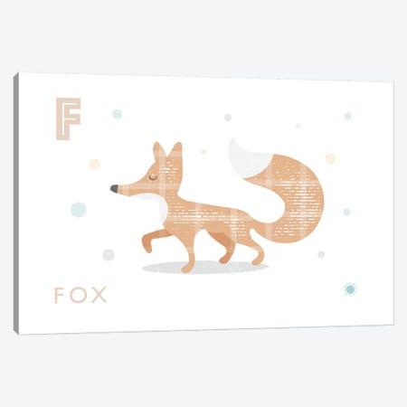 Fox 3-Piece Canvas #PPX37} by PaperPaintPixels Canvas Art