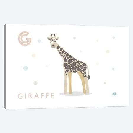 Giraffe 3-Piece Canvas #PPX38} by PaperPaintPixels Art Print