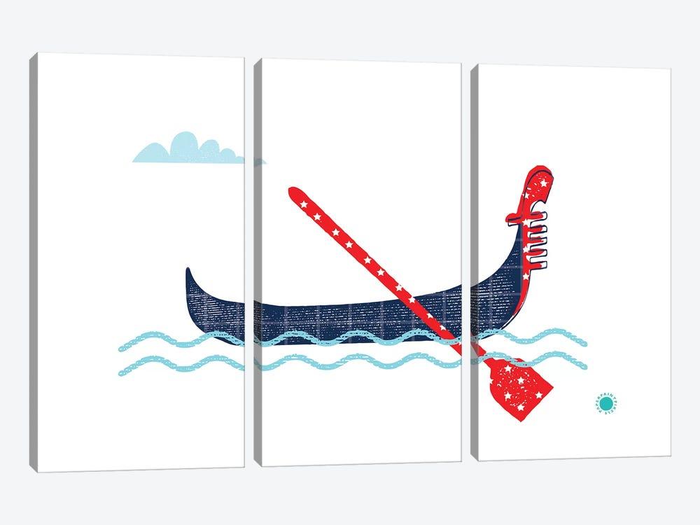 Gondola by PaperPaintPixels 3-piece Canvas Wall Art