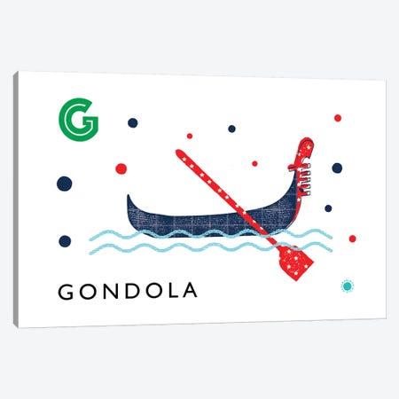 G Is For Gondola Canvas Print #PPX41} by PaperPaintPixels Canvas Art