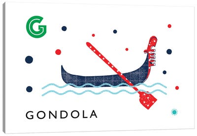 G Is For Gondola Canvas Art Print