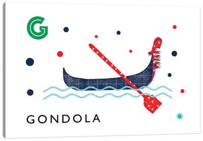 G Is For Gondola Canvas Art Print