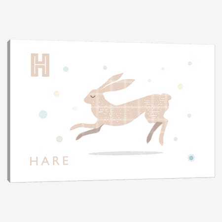Hare Canvas Print #PPX42} by PaperPaintPixels Canvas Artwork