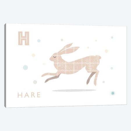 Hare Canvas Print #PPX42} by PaperPaintPixels Canvas Artwork