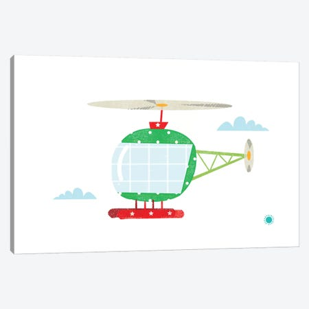 Helicopter Canvas Print #PPX43} by PaperPaintPixels Canvas Art