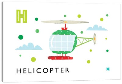 H Is Forhelicopter Canvas Art Print