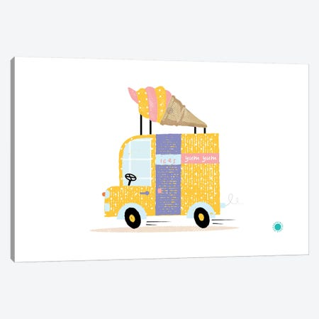 Ice Cream Van Canvas Print #PPX46} by PaperPaintPixels Canvas Print
