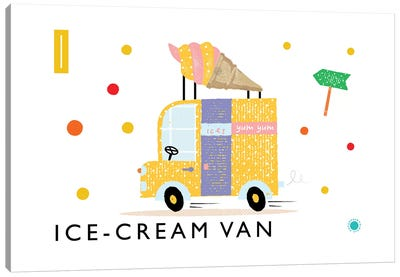 I Is For Ice Cream Van Canvas Art Print