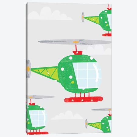 In The Air Helicopters Canvas Print #PPX48} by PaperPaintPixels Canvas Art