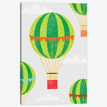 In The Air Hot Air Balloons Canvas Print #PPX49} by PaperPaintPixels Canvas Wall Art