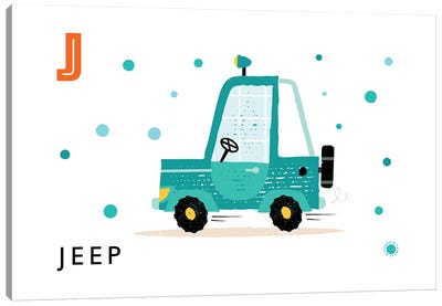 J Is For Jeep Canvas Art Print