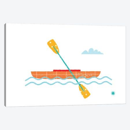 Kayak Canvas Print #PPX55} by PaperPaintPixels Canvas Art