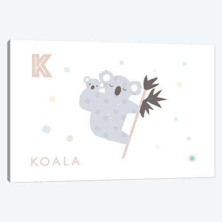 Koala 3-Piece Canvas #PPX57} by PaperPaintPixels Canvas Artwork