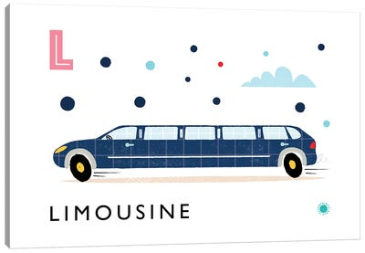 L Is For Limousine Canvas Art Print