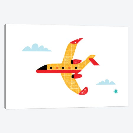 Airplane Canvas Print #PPX5} by PaperPaintPixels Canvas Art