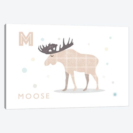 Moose 3-Piece Canvas #PPX63} by PaperPaintPixels Canvas Art