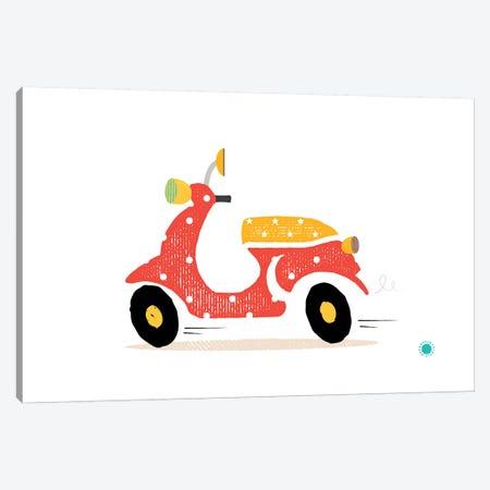 Motorcycle Canvas Print #PPX64} by PaperPaintPixels Art Print