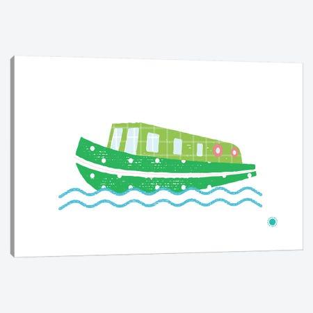 Narrowboat Canvas Print #PPX66} by PaperPaintPixels Canvas Art Print