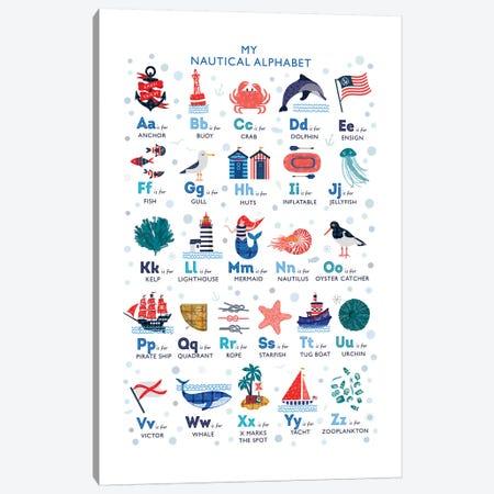 Nautical Alphabet Canvas Print #PPX69} by PaperPaintPixels Canvas Artwork