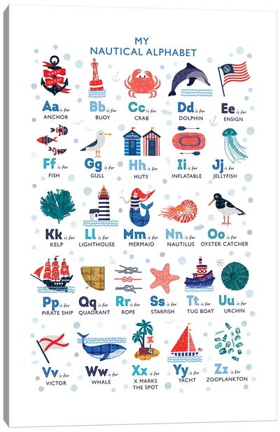 Nautical Alphabet Canvas Art Print