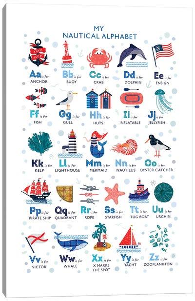 Nautical Alphabet Canvas Art Print