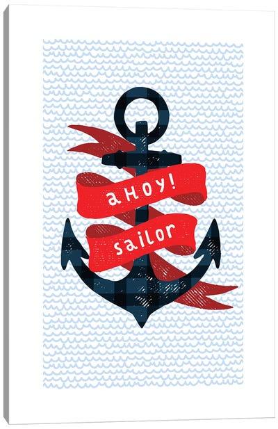 Nautical Anchor Canvas Art Print