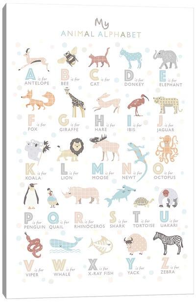 Neutral Animal Alphabet Canvas Art Print