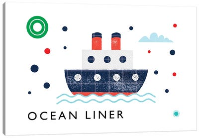 O Is For Ocean Liner Canvas Art Print
