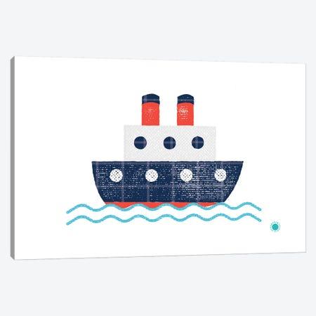Ocean Liner Canvas Print #PPX76} by PaperPaintPixels Canvas Artwork
