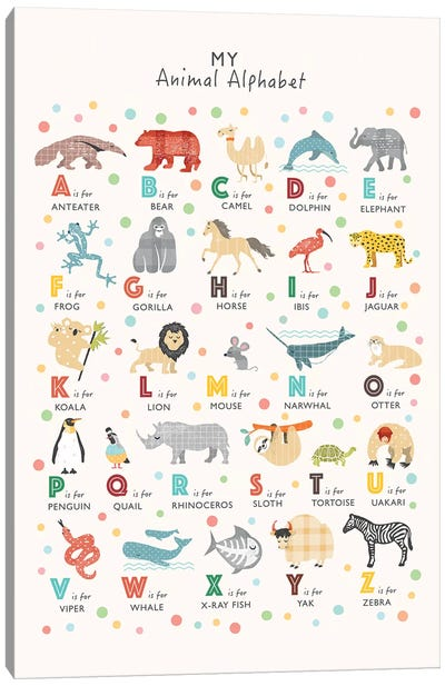 Animal Alphabet Canvas Art Print