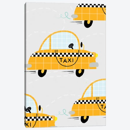 On The Road Taxis Canvas Print #PPX80} by PaperPaintPixels Canvas Art