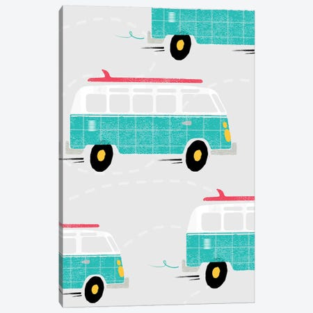 On The Road Vans Canvas Print #PPX81} by PaperPaintPixels Canvas Wall Art