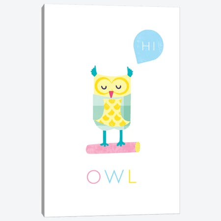 Owl Canvas Print #PPX86} by PaperPaintPixels Canvas Art Print