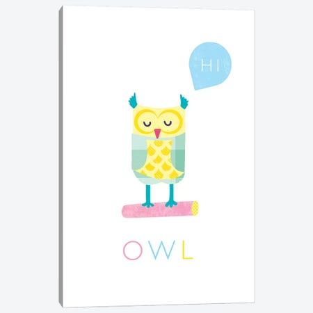 Owl Canvas Print #PPX86} by PaperPaintPixels Canvas Art Print