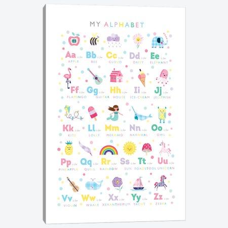 Pastel Alphabet Print Canvas Print #PPX87} by PaperPaintPixels Canvas Print
