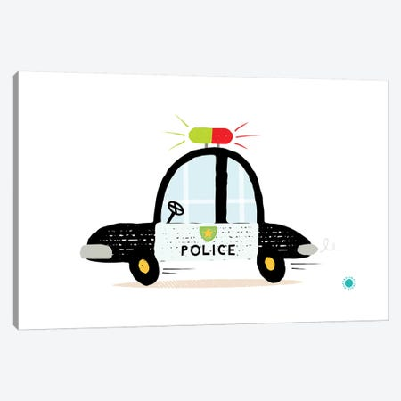 Police Car Canvas Print #PPX92} by PaperPaintPixels Canvas Print