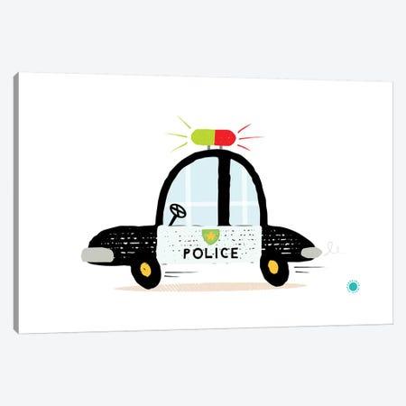 Police Car Canvas Print #PPX92} by PaperPaintPixels Canvas Print