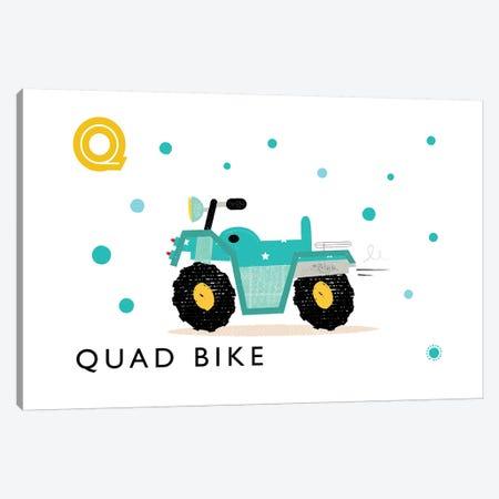 Q Is For Quad Bike Canvas Print #PPX95} by PaperPaintPixels Canvas Artwork