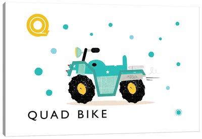 Q Is For Quad Bike Canvas Art Print