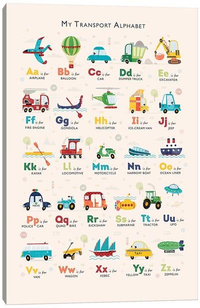 Retro Transport Alphabet Canvas Art Print
