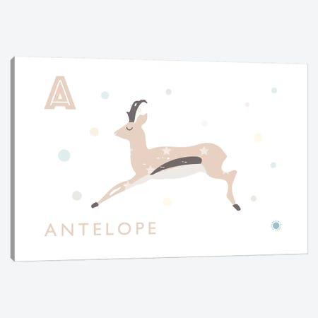 Antelope 3-Piece Canvas #PPX9} by PaperPaintPixels Art Print
