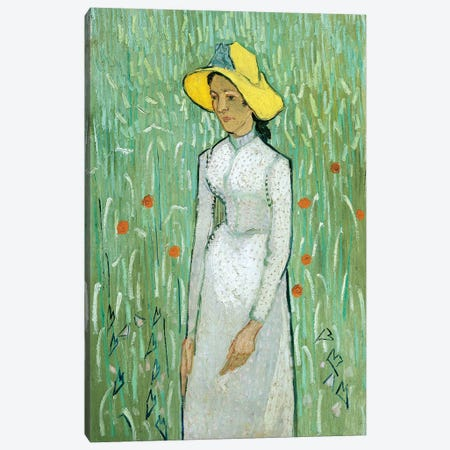 Girl in White, 1890 Canvas Print #PRE13} by Vincent van Gogh Art Print