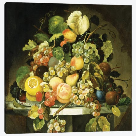 Still Life with Fruit, Canvas Print #PRE14} by Charles Baum Canvas Artwork