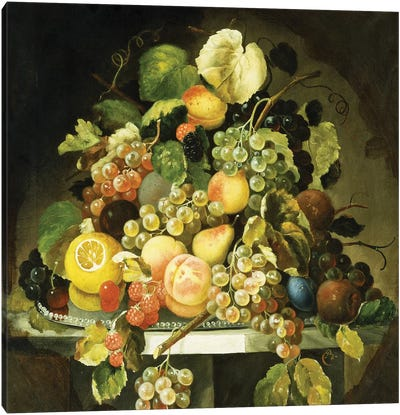 Still Life with Fruit, Canvas Art Print