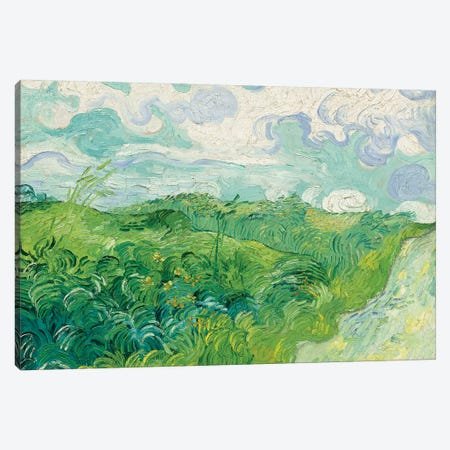 Green Wheat Fields, Auvers, 1890 Canvas Print #PRE7} by Vincent van Gogh Canvas Artwork