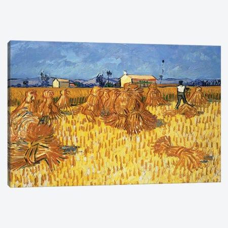 Harvest in Provence, June 1888 Canvas Print #PRE8} by Vincent van Gogh Art Print